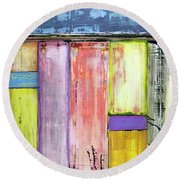 Art Print Abstract 47 Round Beach Towel