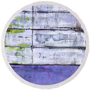 Art Print Abstract 70 Round Beach Towel