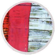 Art Print Abstract 75 Round Beach Towel