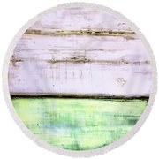 Art Print Abstract 87 Round Beach Towel