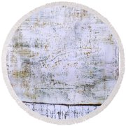 Art Print Abstract 96 Round Beach Towel