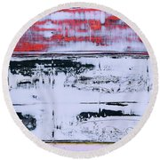 Art Print Abstract 99 Round Beach Towel