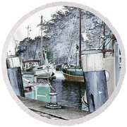 Art Print Boat 2 Round Beach Towel