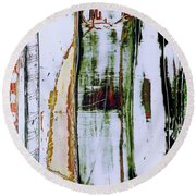 Art Print Forest Round Beach Towel