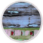 Art Print Sierra 7 Round Beach Towel