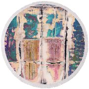 Art Print Square 8 Round Beach Towel