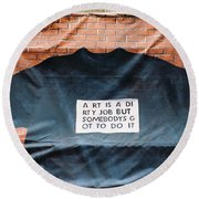 Art Shirt Round Beach Towel