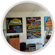 Art Studio Rear View Round Beach Towel