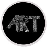 Art Within Art Round Beach Towel by Samantha Thome