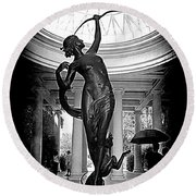 Round Beach Towel featuring the photograph Artemis At Huntington Library by Lori Seaman