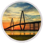 Arthur Ravenel Jr. Bridge - Charleston Sc Round Beach Towel
