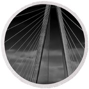 Arthur Ravenel Jr Bridge Round Beach Towel by DigiArt Diaries by Vicky B Fuller
