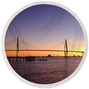 Arthur Ravenel Jr. Bridge Round Beach Towel