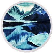 Artic Blue  Round Beach Towel