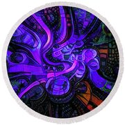 Round Beach Towel featuring the digital art Artificial Fallopian Tubes by Steve Taylor