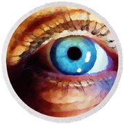Artist Eye View Round Beach Towel