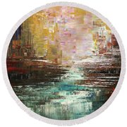 Artist Whitewater Round Beach Towel