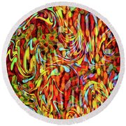 Artistic Flair Round Beach Towel
