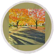 Round Beach Towel featuring the photograph Artistic Tulsa Street by Robert Knight