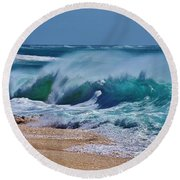 Artistic Wave Round Beach Towel