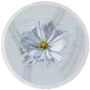 Artistic White #g1 Round Beach Towel by Leif Sohlman