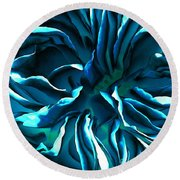 Artistique Rose Blue Round Beach Towel