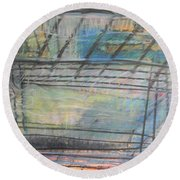 Artists' Cemetery Round Beach Towel