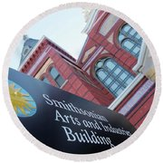 Arts And Industry Museum  Round Beach Towel by John S