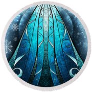 The Snow Queen Round Beach Towel