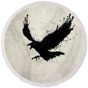Raven Round Beach Towel