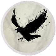 Raven Round Beach Towel