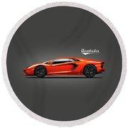 Lamborghini Aventador Round Beach Towel