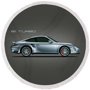 Porsche 911 Turbo Round Beach Towel
