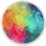 Abstract Color Wave Flash Round Beach Towel