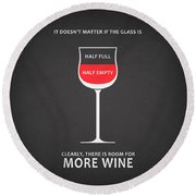 Wine Glasses 1 Round Beach Towel