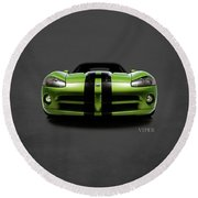 Dodge Viper Round Beach Towel by Mark Rogan