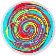 Boo Hearted Round Beach Towel by Catherine Lott