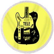 Fender Telecaster 52 Round Beach Towel by Mark Rogan