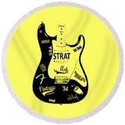 Fender Stratocaster 54 Round Beach Towel by Mark Rogan