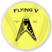 Gibson Flying V Round Beach Towel by Mark Rogan