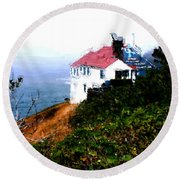Cape Foulweather Round Beach Towel by Methune Hively