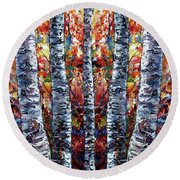 Aspen Up 2 Round Beach Towel