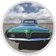 Green With Envy - 68 Mercury Round Beach Towel