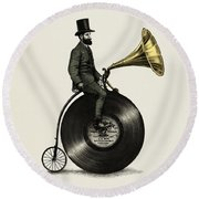 Music Man Round Beach Towel