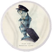 The Pilot Round Beach Towel