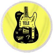Fender Telecaster 58 Round Beach Towel by Mark Rogan