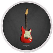 Fender Stratocaster 63 Round Beach Towel