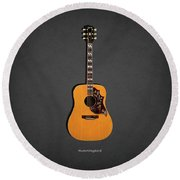 Gibson Hummingbird 1968 Round Beach Towel