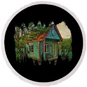 The Enchanted Garden Shed Round Beach Towel by Thom Zehrfeld