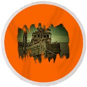 Round Beach Towel featuring the photograph Mary D. Hume Shipwreak by Thom Zehrfeld